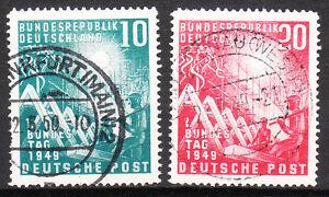 BRD 1949 Mi. Nr. 111-112 TOP Vollstempel Gestempelt Schlegel BPP !!!