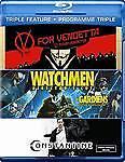 V for Vendetta/Watchmen/Constantine (Blu-ray, 2012, Canadian)