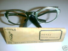 Vintage Eyeglasses Green Silk Cateye