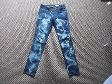 """& And SQIN Slim Leg Low Waist Jeans W 28"""" L 32"""" Faded Dark Blue Ladies Jeans"""