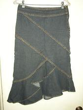 Bisou Bisou Asymetrical Denim Jean Ruffled Skirt - Size 4