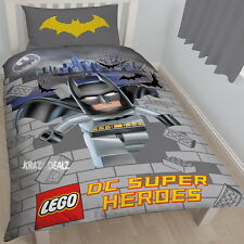 Lego DC SuperHeroes Batman Kapow Single Panel Duvet Cover Bed Set New Gift