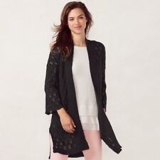 78d05164790ed LC Lauren Conrad Cardigan Sweater Sz XS Gray Charcoal Open Front Lighweight