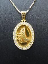 585er Gelbgold Halskette m Anhänger K Lang 38 cm Anänger 3,5x2 cm Ge 8,10gramm