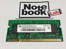 Ram Sodimm So-dimm HYS64T3200HDL 256MB 256 M MB PC2-3200S DDR2-400DDR 2 533 DDR2