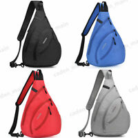 Men Women Shoulder Bag Waterproof Sling Chest Pack Crossbody Bag B11 Black Gray