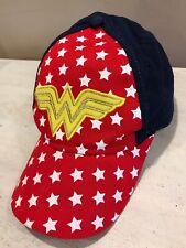 Girls Wonder Woman Red White Blue Stars Baseball Hat Adjustable