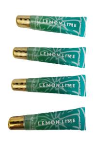 Bath & Body Works Lemon Lime Lip Gloss, (Set of 4), New, Sealed