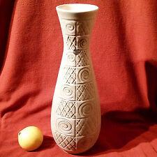 Herrliche große Vase Relief Op-Art Dekor  Jasba Kunstkeramik 70er Jahre 102/35