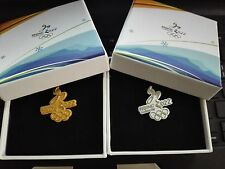 2022 OLYMPIC WINTER GAMES BEIJING CANDIDATE CITY GOLD & SILVER 2 PINS WITH BOX