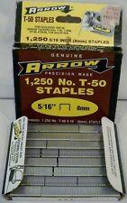 "Genuine Arrow T-50 Staples 5/16"" 8mm (Pack of 1250 Staples)"