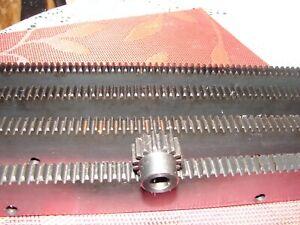 """CNC Stepper motor mech Rack & Gear 96"""" Rack (4-24"""" pcs) & a 15T 8mm pinion gear"""