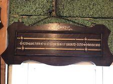vintage snooker EJ Riley & Sons scoreboard