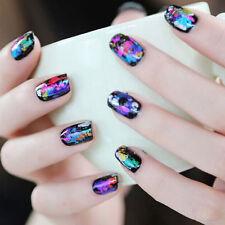 2X Nail Art Transfer Foil Galaxy Stickers Star Paper Tips Decals Decor 4*21cmH&T