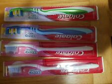 Lot of 4 (3 colors) New Colgate Wave soft toothbrushes 2 zigzag 2 gum comfort