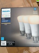 Philips Hue 3-Pack 60W White Bluetooth Smart LED Bulbs Brand New