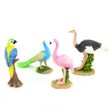 Miniature Dollhouse FAIRY GARDEN - Zoo Birds - Set of 4 - Accessories