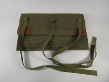 Vintage canvas and leather Klein tools bag satchel pouch weighted flap linemans