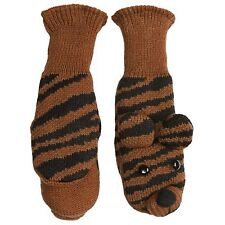 MAD BOMBER KID'S COZY CRITTER TIGER MITTENS  NWT $18.00 LIST