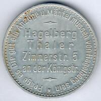 Germany Rare Medal from Hagelberg Thaler um 1920 (Alu.) D.33,44mm, xf+