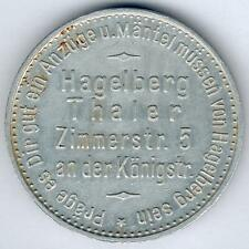 Germany Rare Medal from Hagelberg Thaler um 1920 (Alu.) D.33,44mm, xf+