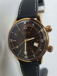 Alpina Seastrong Diver Heritage Automatic Watch 41mm Bronze PVD AL-525BR4H4
