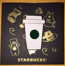 Starbucks 2017 China White To Go Coffee Cup Pin
