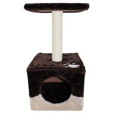 Cat Scratching Single Post Box Tree House Condo Furniture Scratcher Pole