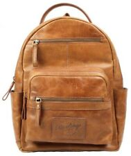 Rawlings Heritage Medium Genuine Leather Backpack Baseball Laptop Sleeve Tan