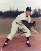 Carl Erskine Brooklyn Los Angeles Dodgers 1955 WS Champ Signed Autograph Photo