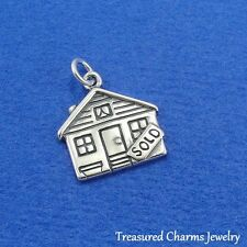 .925 Sterling Silver SOLD HOUSE Realtor Real Estate Homeowner CHARM PENDANT, NEW
