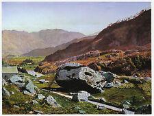 Bowder Stone Borrowdale A. Grimshaw print in 10 x 12 mount ready to frame SUPERB
