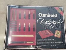 New Vintage Osmiroid Calligraphy Set 2 Pens 8 Gold Plated Nibs Book 200926