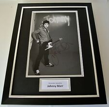 Johnny Marr SIGNED FRAMED Photo Autograph 16x12 display Smiths Music & COA