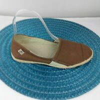 Ocean Minded by CROCS Womens Size 5 Tan Espadrille Slip On Casual Flats