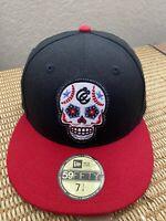 Corpus Christi Hooks MiLB Sugar Skull  New Era 59FIFTY M Baseball Hat Size 7 1/4