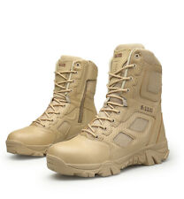 Mens Military Tactical Desert Ankle Boots Shoes High Top Shoes Running Sneakers