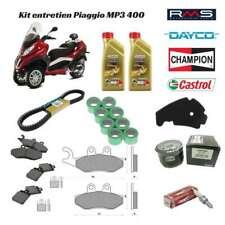 kit entretien huile courroie filtre plaquette frein bougie galet Piaggio MP3 400
