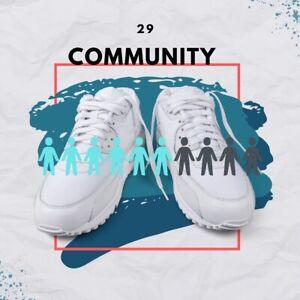 "Custom Print on Demand Graphic High Top Tennis Athletic Sneakers ""Community"""