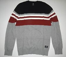 New DC Shoes Mens Dolton Cotton Long Sleeve Crew Knit Sweater Medium