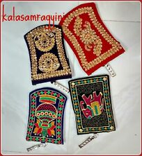 5 Pcs Indian Embroidered Work Mobile and Money Velvet Purse Best Hand Bag Pouch