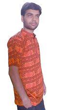 Men Kurta Handmade Casual 100% Cotton Half Sleeve T-Shirt Indian Bollywood