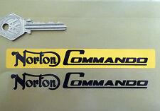 NORTON COMMANDO Number Plate Dealer Logo Cover STICKER Yellow Motorcycle Bike
