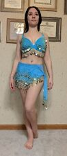 Bollywood Style Blue Women's Adult Small Dance/Halloween Costume