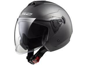 LS2 Jet Helmet OF573 Twister Titanium Matte Motorcycle Helmet From Hptt