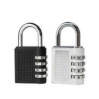 NE_ KM_ 4 Digit Combination Padlock Travel Suitcase Luggage Security Password Lo