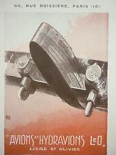 1932 PUB LIORE OLIVIER LeO AVION THE GOLDEN RAY / BLERIOT HALLO ORIGINAL AD