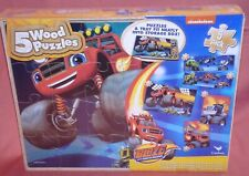 NEW = 5 WOOD PUZZLES = BLAZE AND THE MONSTER MACHINE = nickelodeon = 13593