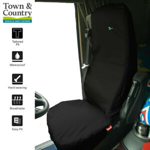DAF XF Euro 6 WATERPROOF SEAT COVERS Town & Country HEAVY DUTY Front Pair BLACK