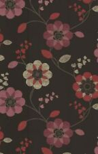 Chocolate Berry Floral Wallpaper Feature Wall Bedroom Living Room Home K2